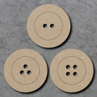 Button Blank Craft Shapes