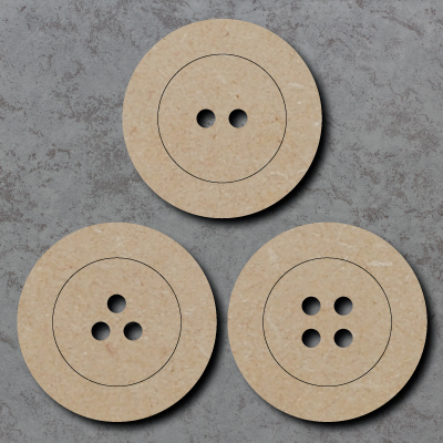 Button Wooden Craft Shapes