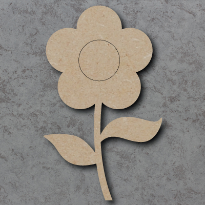 Flower Wooden Craft Shapes