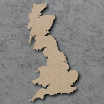 Map Uk Wooden Craft Shapes
