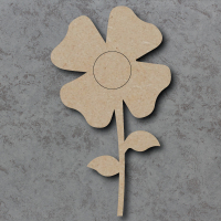 Flower 04 Blank Craft Shapes