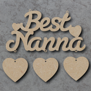Best Nanna / Granny Script Sign