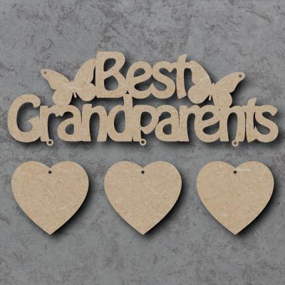 Best Grandparents Craft Shape Sign