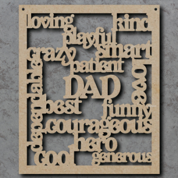 Dad, Daddy Words Craft Sign