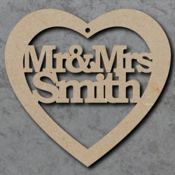 Mr & Mrs Personalised Heart