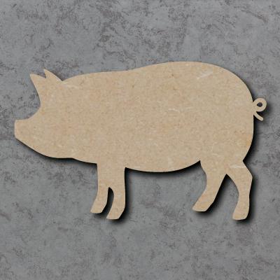 Pig Wooden Craft Shapes