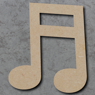 Music Note Double Craft Shapes