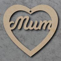 Heart Family Names, Mum, Nan, Dad etc...