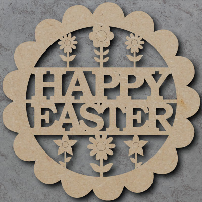 Happy Easter Flower Sign