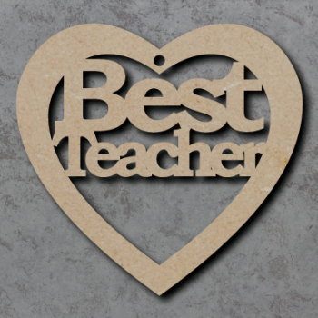 Best Teacher Heart Craft Shapes