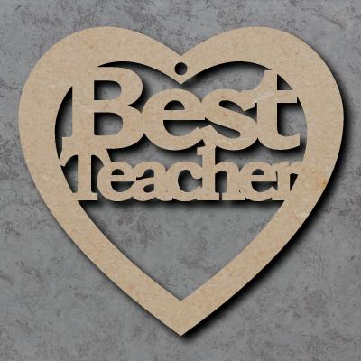 Best Teacher Heart Craft Shapes