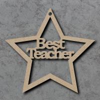 Best Teacher Star Craft Shapes