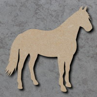 Horse 02 Standing Blank Craft Shapes