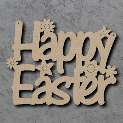 Happy Easter Craft Sign