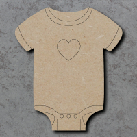 Baby Vest Detailed Craft Shapes