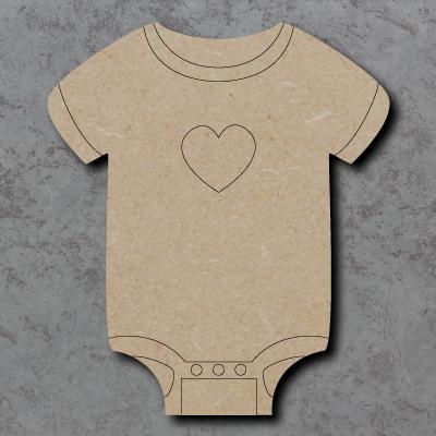 Baby Vest Craft Shapes