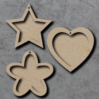 Heart, Star, Flower Frame