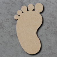 Baby Feet Blank Craft Shapes