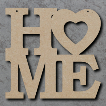 HO-ME Sign with Heart