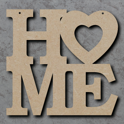 HO-ME mdf Sign with Heart