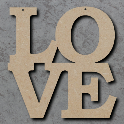 LO-VE mdf Craft Sign