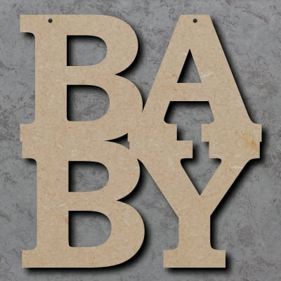 BA-BY mdf Craft Sign