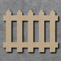 Picket Fence Blank Craft Shapes