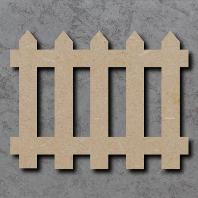Picket Fence mdf Craft Shapes