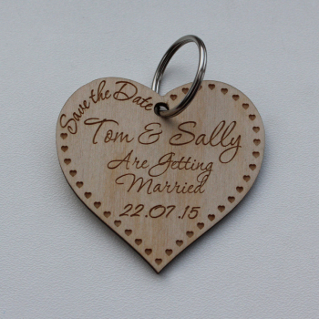 Save the Date Wedding Heart Tags