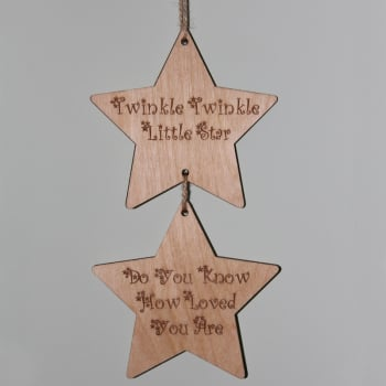 Twinkle Twinkle Little Star Hanging Decoration
