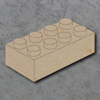 Building Brick Detailed Craft Shapes