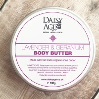 Lavender and geranium body butter