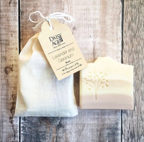 Lavender and geranium ~ luxury vegan soap bar
