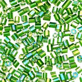 Glass Cut Beads - Green
