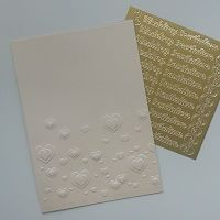 Bespoke Handmade Wedding Invitation Range - embossed heart