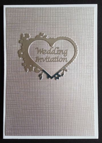 Silver Linen with Hearts