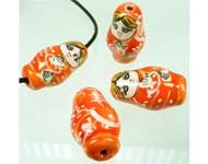 Bead - Matruska Doll - Orange