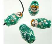 Bead - Matrushka Doll - Green