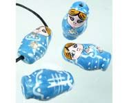 Bead - Matrushka Doll - Blue