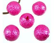 Bead suitable for beadable pens - Synthetic Pearl Decorated - Vivid Pink (Pack of 5)