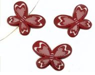 Synthetic Butterfly Bead 21x29mm - Dark Red