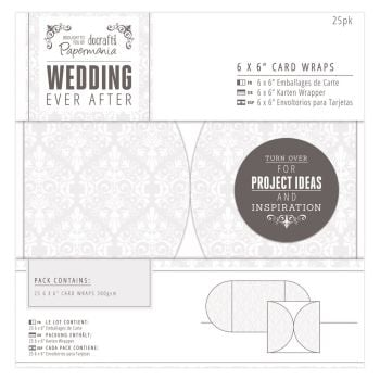 "Wedding Invitation Pack - 6"" x 6"" Card Wraps"
