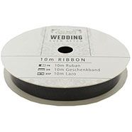 10 m Organza Ribbon  - Dark Grey