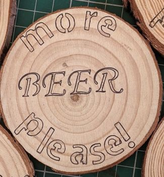 Wooden Coaster - Beer