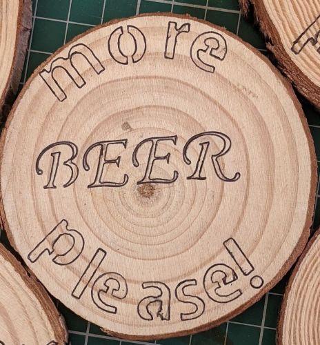Wooden Coaster - Beer