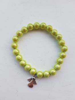 Adult Angel Glow / Miracle Bead Bracelet - 8mm Green (Limey)