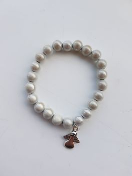 Adult Angel Glow / Miracle Bead Bracelet - 8mm White