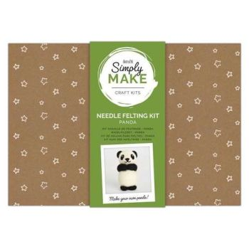 Panda Needle Felting Kit - Simply Make