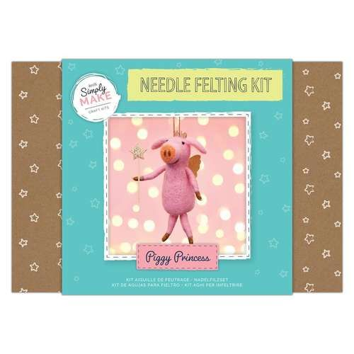 Piggy Princess Needle Felting Kit - Simply Make