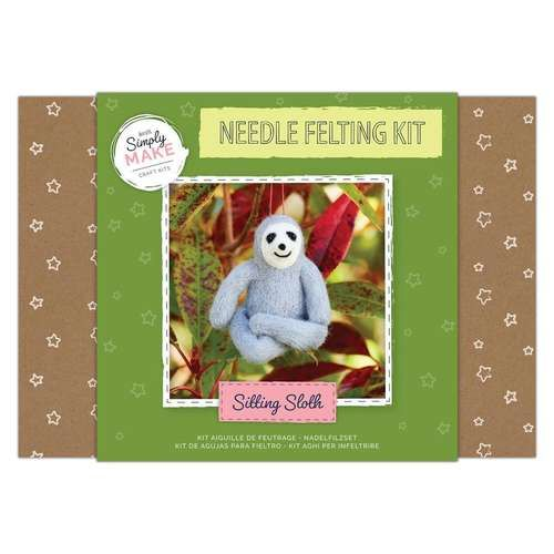Sloth Needle Felting Kit - Simply Make